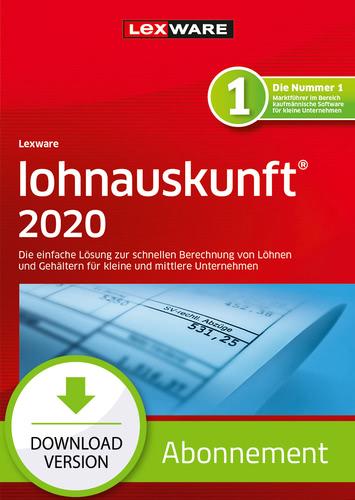 Verpackung von Lexware lohnauskunft 2020 - Abo-Version [PC-Software]