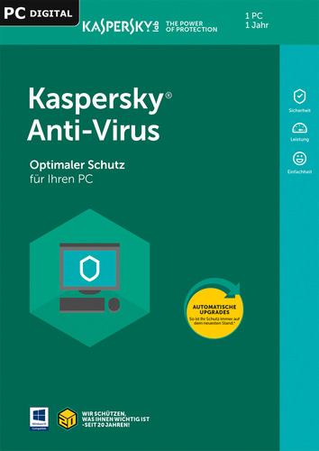 Verpackung von Kaspersky Antivirus (2018) [PC-Software]