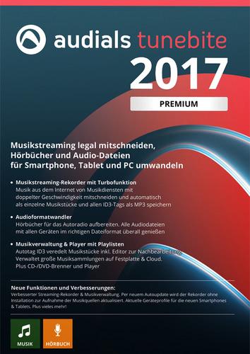 Verpackung von Audials Tunebite 2017 Premium [PC-Software]