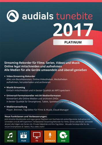 Verpackung von Audials Tunebite 2017 Platinum [PC-Software]