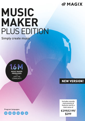 Verpackung von Music Maker 2019 Plus Edition [PC-Software]