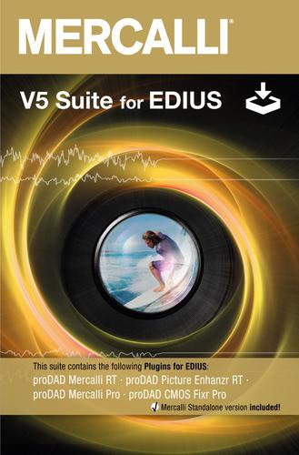 Verpackung von Mercalli V5 Suite für EDIUS [PC-Software]