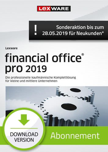financial office Pro 2019 Abonnement (Aktionspreis) (Download), PC