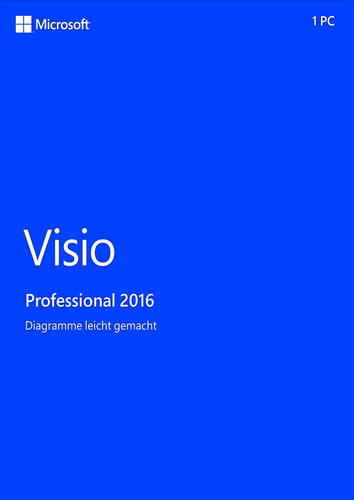Microsoft Visio Professional 2016 Medialess German