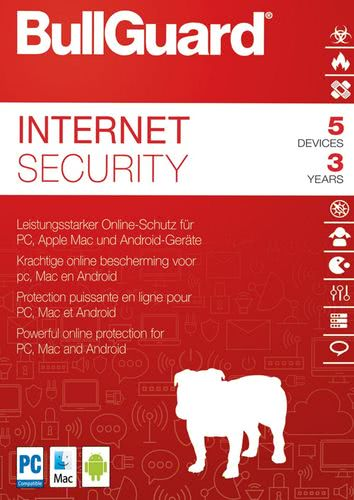 Verpackung von BullGuard Internet Security 2018 5 Geräte 36 Monate [MULTIPLATFORM]