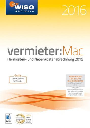Verpackung von WISO vermieter:Mac 2016 [Mac-Software]