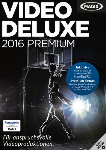 Verpackung von Magix Video deluxe 2016 Premium [PC-Software]