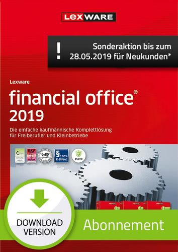 Verpackung von Lexware financial office 2019 Abonnement (Aktionspreis) [PC-Software]