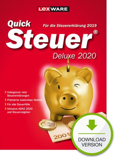 Verpackung von QuickSteuer 2020 Deluxe (für Steuerjahr 2019) [PC-Software]