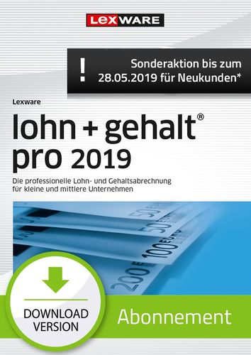 lohn+gehalt Pro 2019 Abonnement (Aktionspreis) (Download), PC