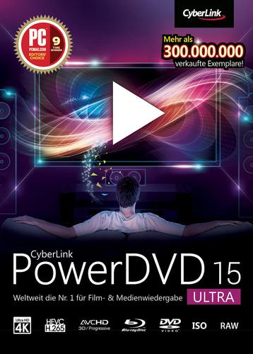 Verpackung von CyberLink PowerDVD 15 Ultra [PC-Software]