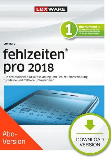 Verpackung von Lexware fehlzeiten pro 2018 Download - Abo Version [PC-Software]