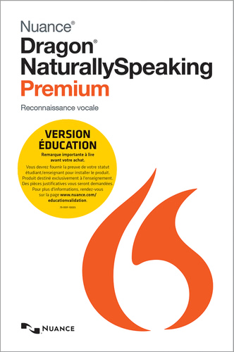 Emballage de Dragon NaturallySpeaking 13 Premium - Educational [Logiciels PC]