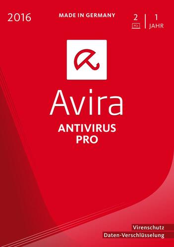 Verpackung von Avira AntiVirus Pro 2016 - 2 User / 12 Monate [PC-Software]