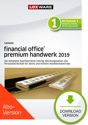 Verpackung von Lexware financial office premium handwerk 2019 Download - Abo Version [PC-Software]