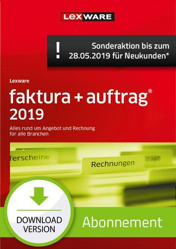 faktura + auftrag 2019 Abonnement (Aktionspreis) (Download), PC