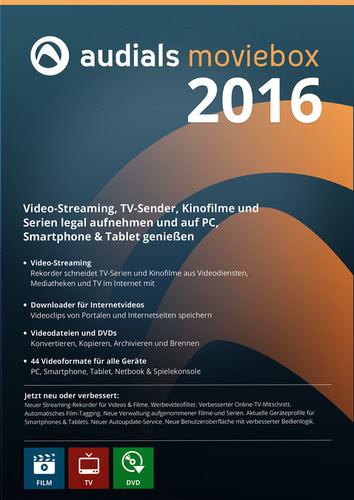 Verpackung von Audials Moviebox 2016 [PC-Software]