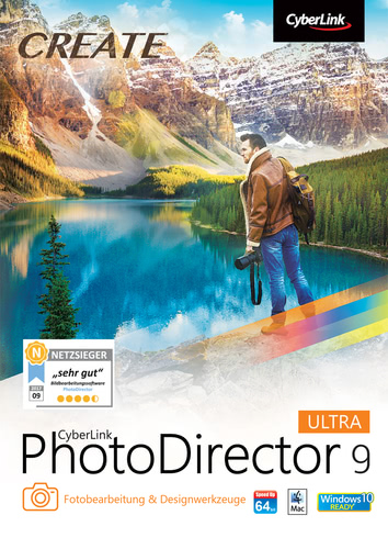 Verpackung von CyberLink PhotoDirector 9 Ultra [Mac-Software]