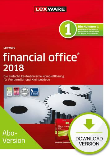 Verpackung von Lexware financial office 2018 Download - Abo Version [PC-Software]