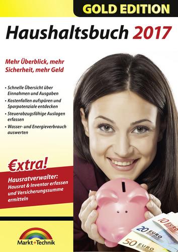 Verpackung von Markt+Technik Haushaltsbuch 2017 Gold [PC-Software]