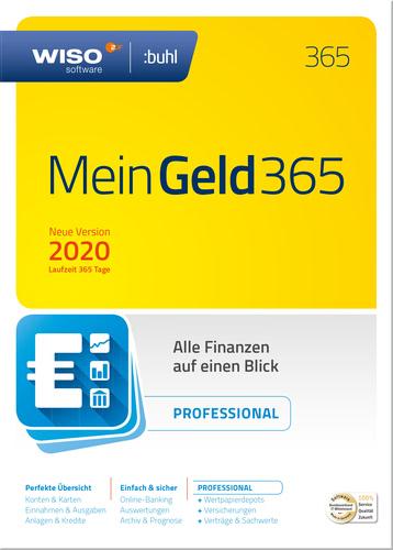 Verpackung von WISO Mein Geld Professional 2020 (Jahresversion 365-Tage) [PC-Software]
