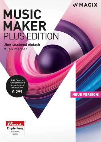 Verpackung von Magix Music Maker Plus (2018) [PC-Software]
