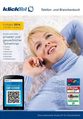 Verpackung von klickTel Telefon – und Brachenbuch Frühjahr 2014 [PC-Software]