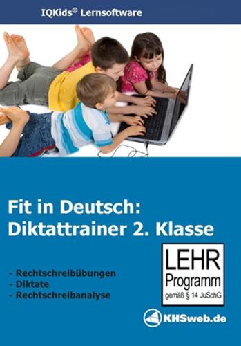 Verpackung von Fit in Deutsch - Diktattrainer - Klasse 2 [PC-Software]