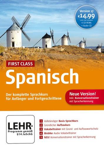 Verpackung von First Class Sprachkurs Spanisch 17.0 [PC-Software]
