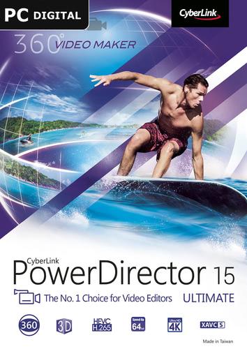 Packaging by CyberLink PowerDirector 15 Ultimate [PC-software]