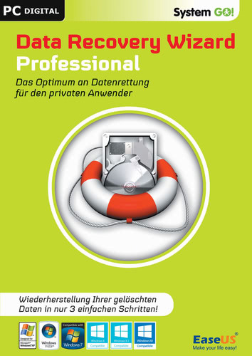 Verpackung von EaseUS System GO! DataRecovery Wizard Professional [PC-Software]