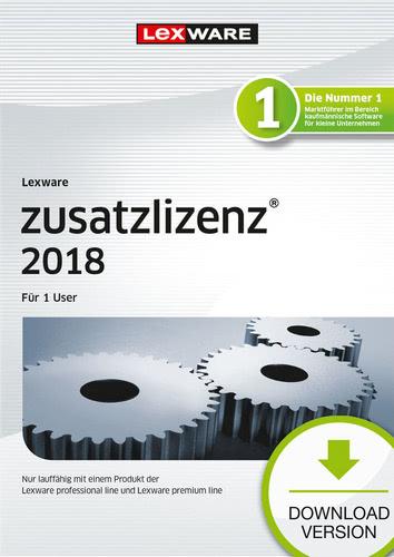 Lexware zusatzlizenz 2018 für Produkte der professional und premium line (365 Tage) für 1 User