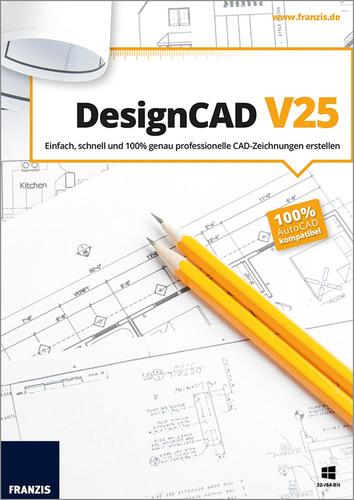 Verpackung von Franzis DesignCAD 2D V25 [PC-Software]