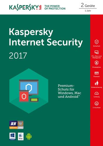 Verpackung von Kaspersky Internet Security 2017 - 2 Geräte 12 Monate Limited Edition [MULTIPLATFORM]