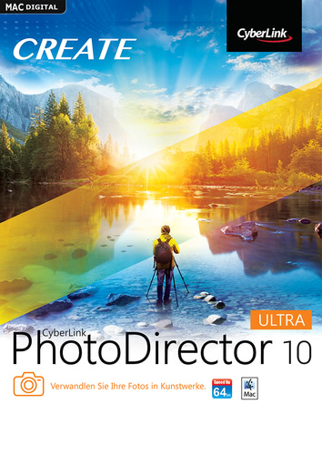 Verpackung von PhotoDirector 10 Ultra [Mac-Software]