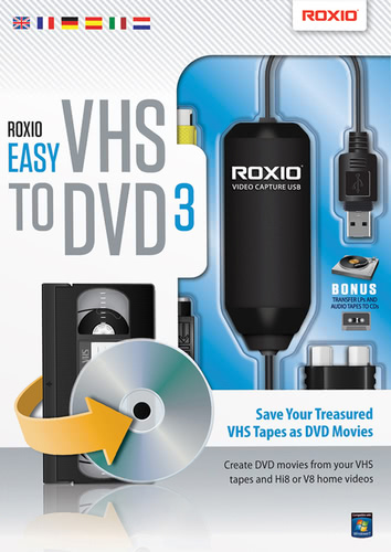 Verpackung von Corel Easy VHS to DVD 3 [PC-Software]