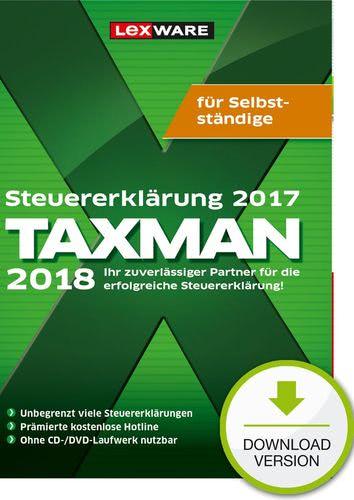 Verpackung von TAXMAN 2018 für Selbstständige (für Steuerjahr 2017) [PC-Software]