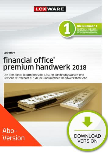 Verpackung von Lexware financial office premium handwerk 2018 Download - Abo Version [PC-Software]
