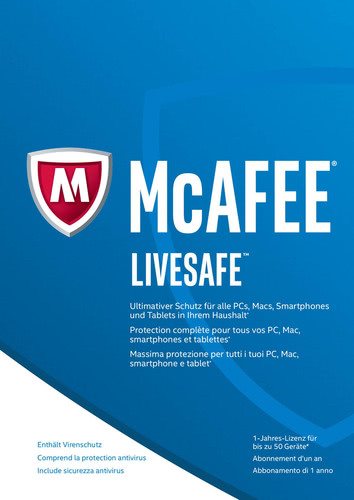 Verpackung von McAfee LiveSafe 2017 Unlimited Devices [PC-Software]