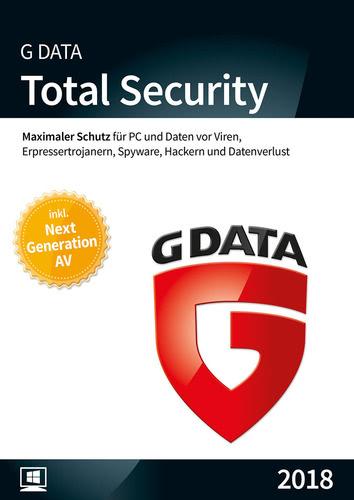 Verpackung von G Data Total Security 2018 - 1 Benutzer - 12 Monate [PC-Software]