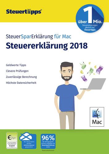 Verpackung von SteuerSparErklärung MAC 2019 (für Steuerjahr 2018) [Mac-Software]