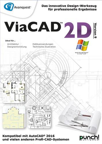 Verpackung von Avanquest ViaCAD 2D V9 (Windows) [PC-Software]