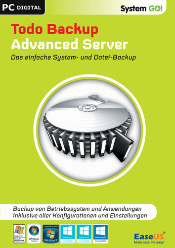 Verpackung von EaseUS System GO! Todo Backup Advanced Server [PC-Software]