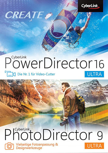 Verpackung von CyberLink PowerDirector 16 Ultra & PhotoDirector 9 Ultra Duo [PC-Software]