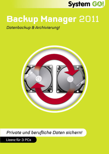 Verpackung von System GO! Backup Manager 2011 [PC-Software]