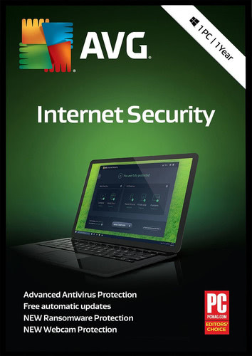 Packaging by AVG Internet Security (2018) [PC-software]