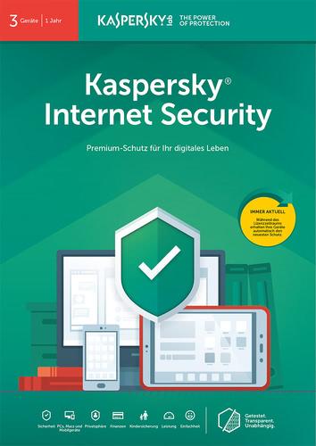 Verpackung von Kaspersky Internet Security (2019)  - 3 Geräte / 12 Monate [MULTIPLATFORM]
