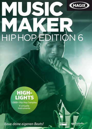 Verpackung von Magix Music Maker Hip Hop Edition 6 [PC-Software]