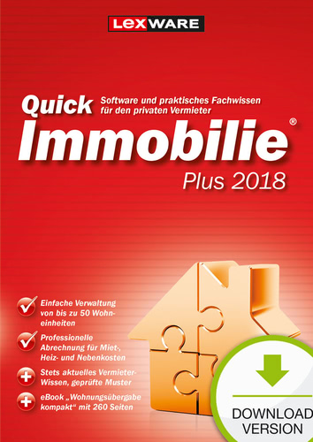 Lexware QuickImmobilie Plus 2018 Jahresversion ...
