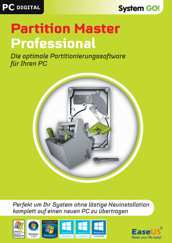 Verpackung von EaseUS System GO! Partition Master Professional [PC-Software]